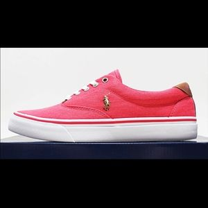NIB POLO RALPH LAUREN Men's Red Low Top Canvas